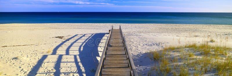 Droga przemian na plaży obraz stock