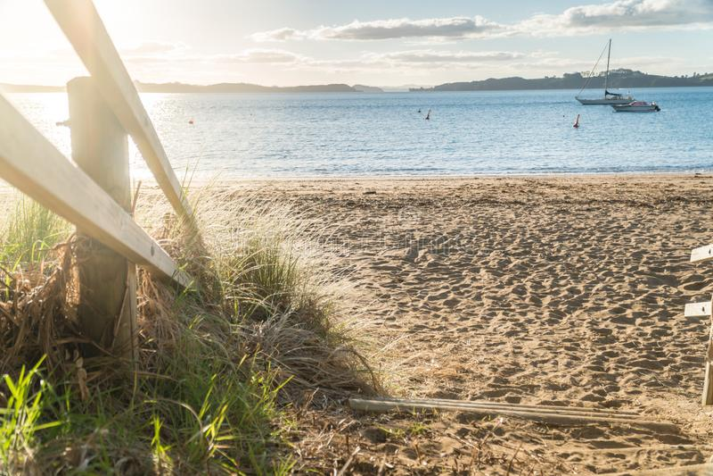 Droga przemian Tapeka punktu plaża obraz royalty free
