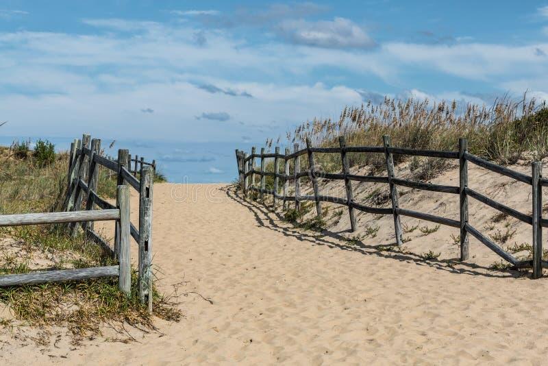 Droga przemian Wyrzucać na brzeg przy Sandbridge obrazy stock