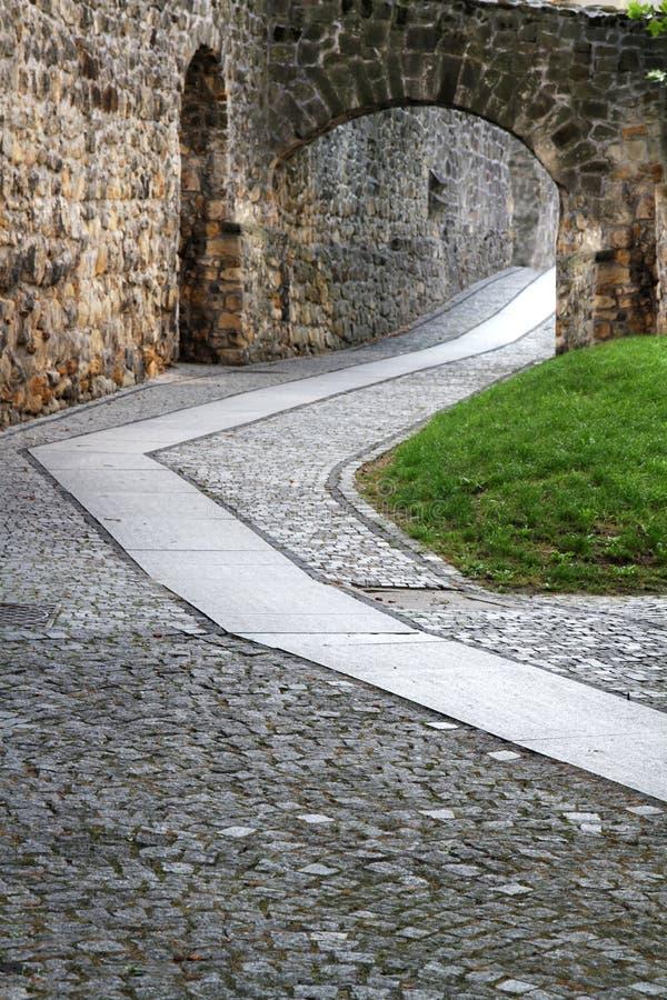 Droga przemian wzdłuż starych ramparts fotografia stock