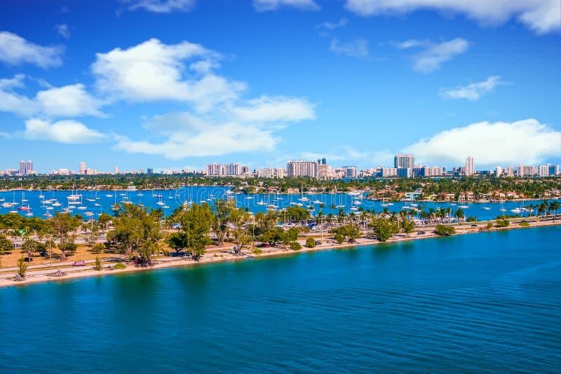 Droga Przez Biscayne zatoki fotografia royalty free