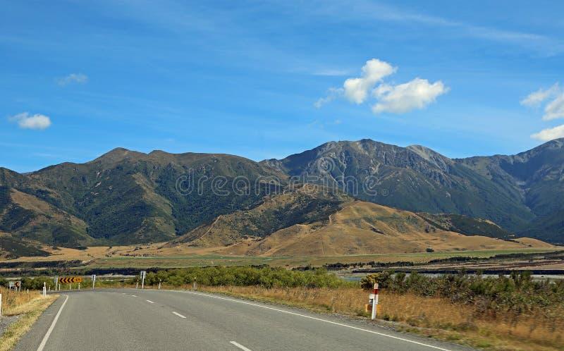 Droga przez Południowych Alps obrazy royalty free