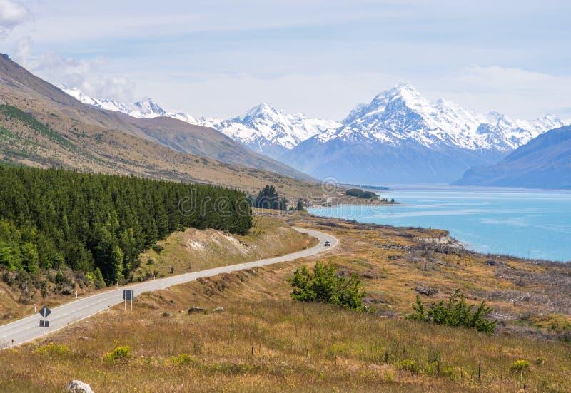 Droga raj w Nowa Zelandia obrazy royalty free
