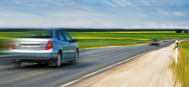droga samochodów fotografia royalty free