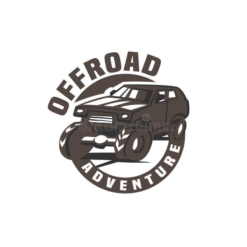 Droga samochodu logo royalty ilustracja
