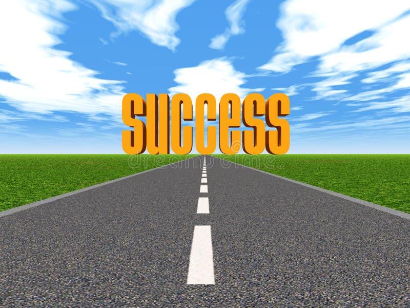 Droga sukces ilustracja wektor