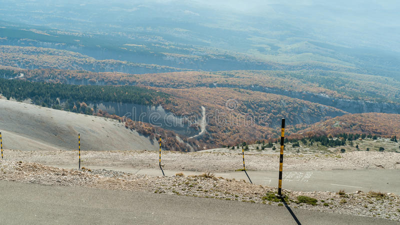 Droga szczyt Mont Ventoux w Provence, Souther obraz stock