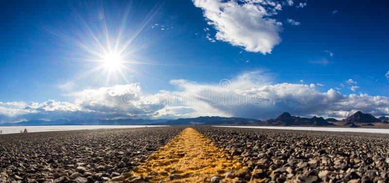 Droga w Bonneville, Utah zdjęcie stock