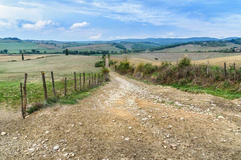 Droga w Chianti regionie w prowincji Siena tuscany Włochy zdjęcia royalty free