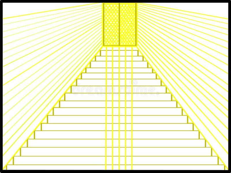 Droga w górę wysokości na obrazku ilustracji