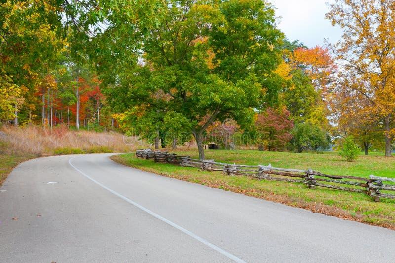Droga w jesień parku fotografia royalty free