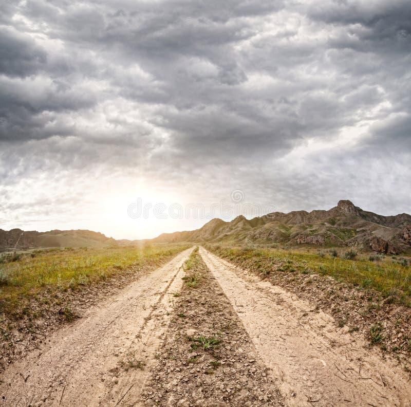 Droga w Kazachstan fotografia stock