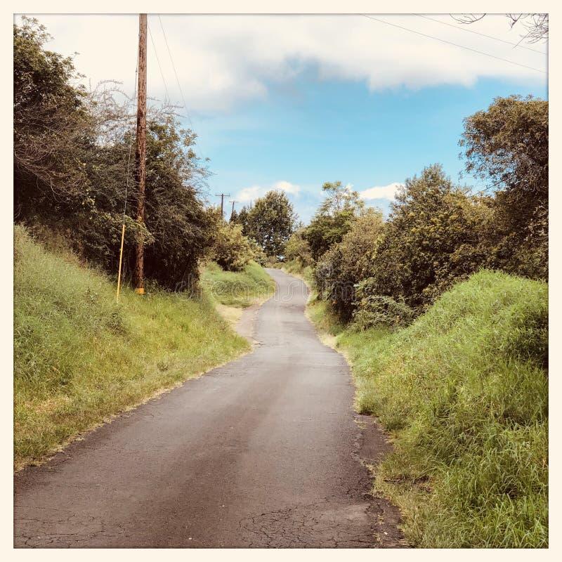 Droga w Kuli na Maui w Hawaje obraz stock