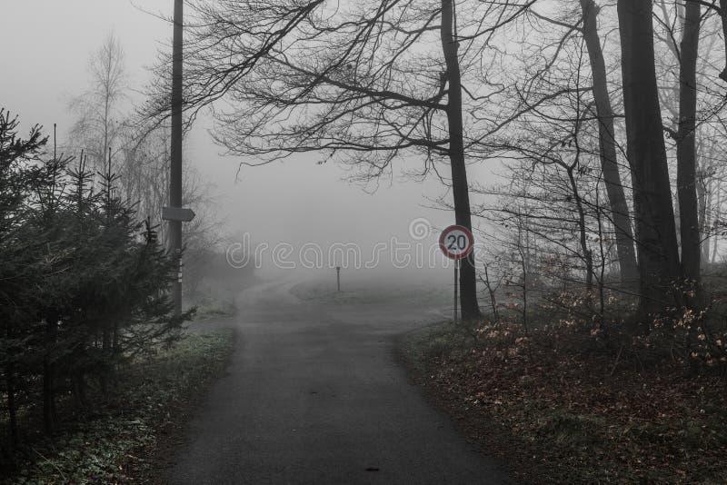 Droga w mgiełce fotografia stock
