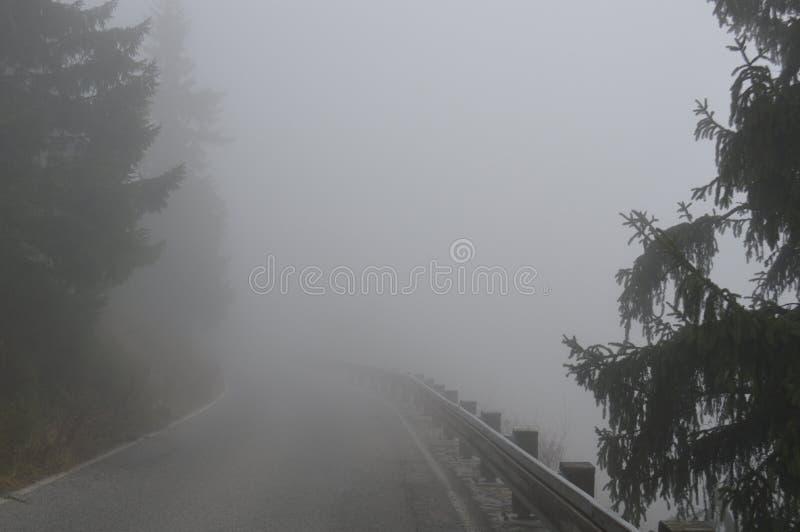 Droga w mgle zdjęcie royalty free