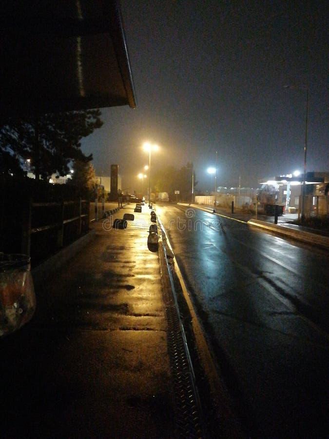 Droga w nocy zdjęcie stock