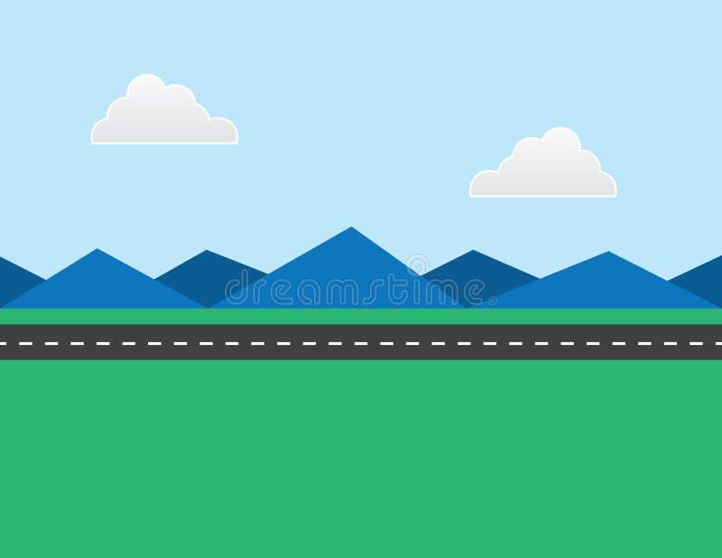 Droga w odległości ilustracja wektor