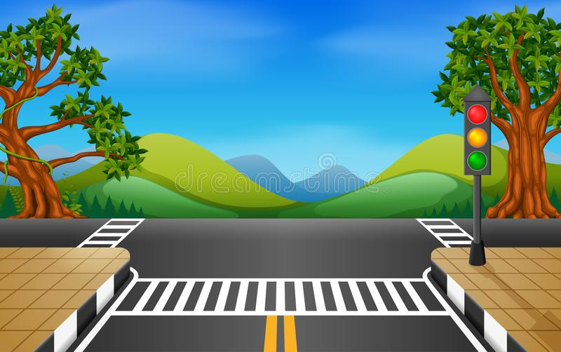 Droga w parkowej ilustraci ilustracji