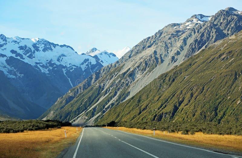 Droga w Południowych Alps obrazy royalty free