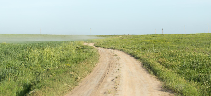 Droga w polu obrazy royalty free
