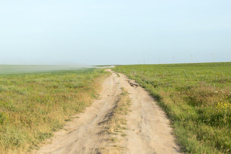 Droga w polu zdjęcie royalty free