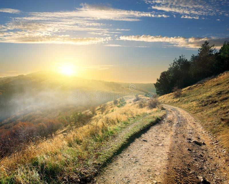Droga w ranku zdjęcie royalty free