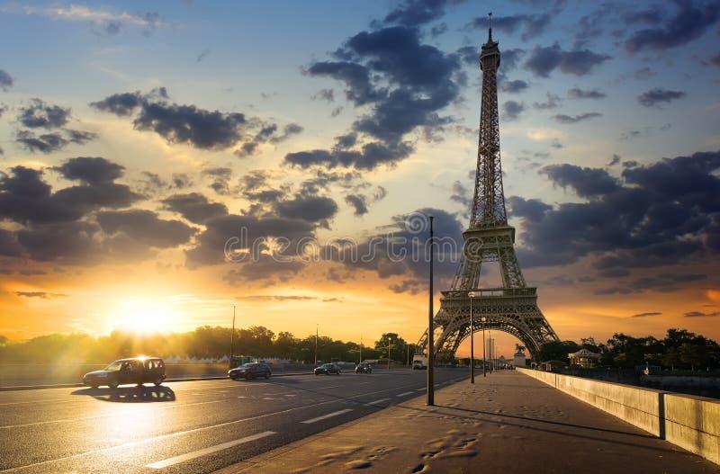 Droga wieża eifla zdjęcia royalty free