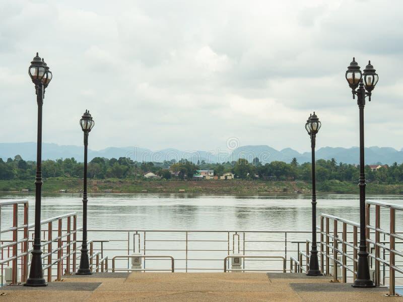 Droga wzdłuż Mekong rzeki obraz royalty free