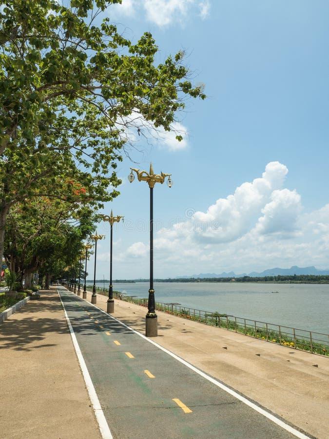Droga wzdłuż Mekong rzeki zdjęcia royalty free