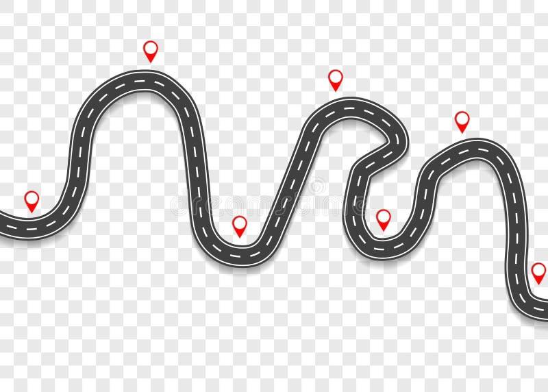 Droga z pointerami Wycieczka samochodowa royalty ilustracja