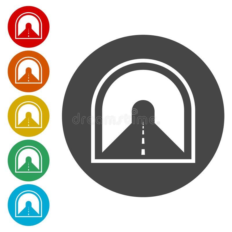 Droga z tunelową ikoną ilustracja wektor