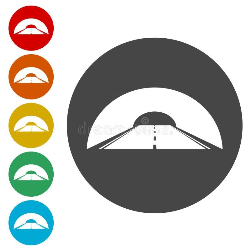 Droga z tunelową ikoną ilustracji