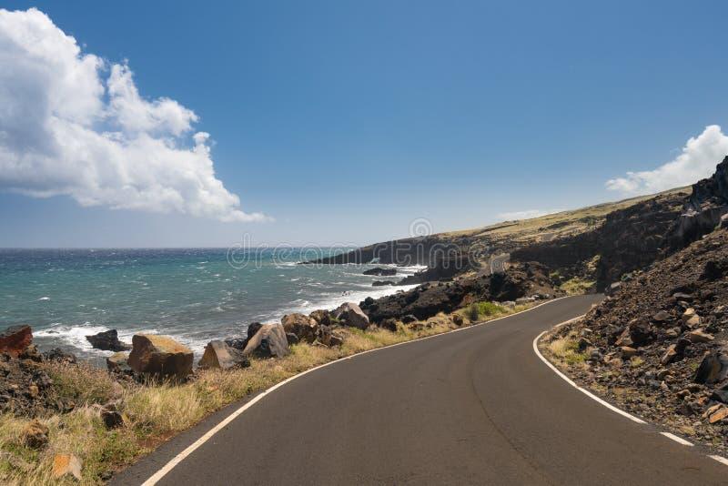 Droga za Hana wokoło tylnej strony Haleakala na Maui fotografia stock