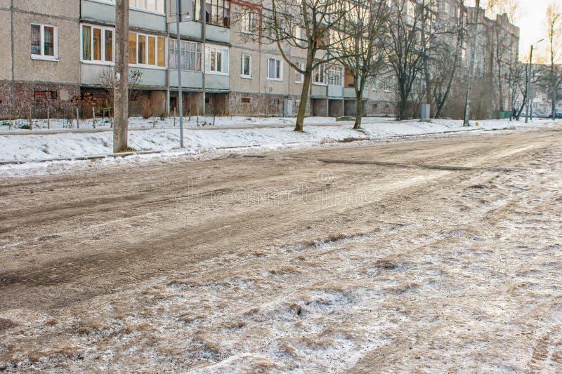 Droga zakrywająca z lodem zdjęcia royalty free