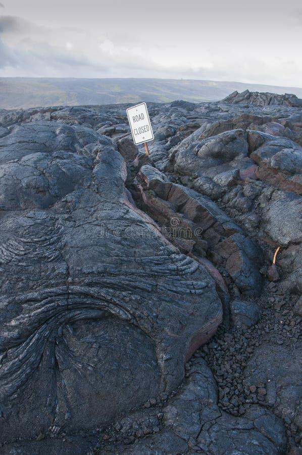 Droga zamykał opłatę Lawowy przepływ na Hawaje, usa obrazy royalty free