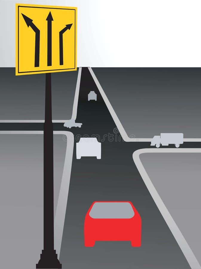Droga znak ilustracji