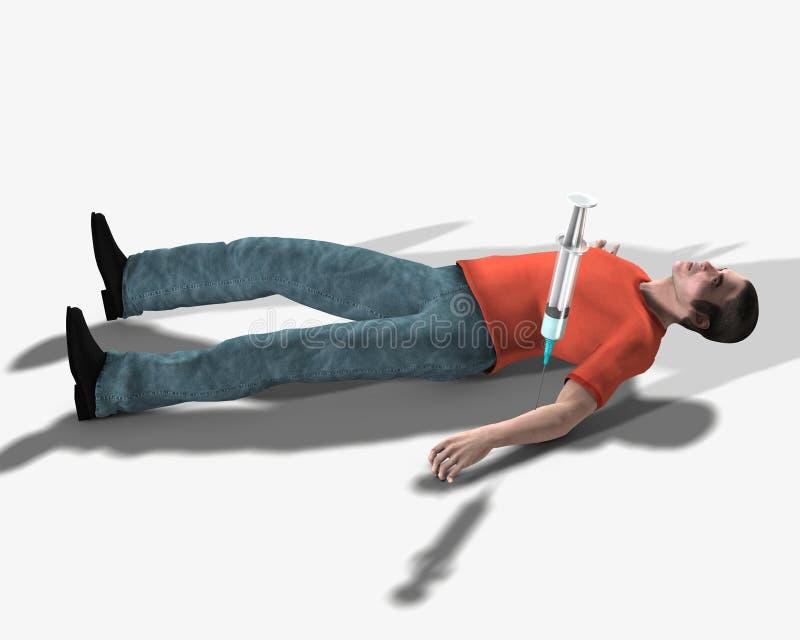 Drogadicto muerto de una sobredosis