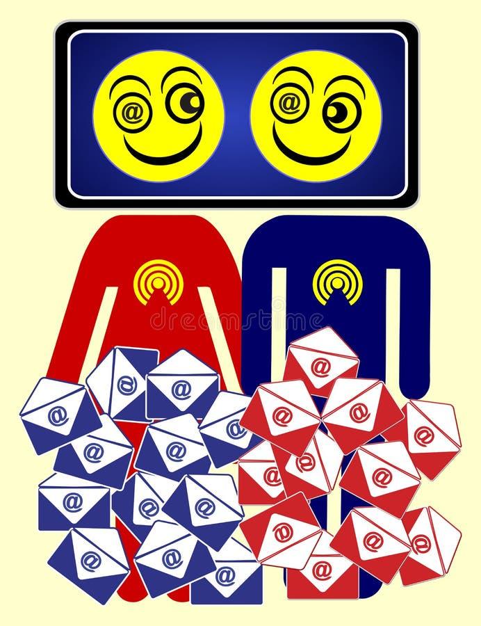 Drogadictos del correo electrónico libre illustration