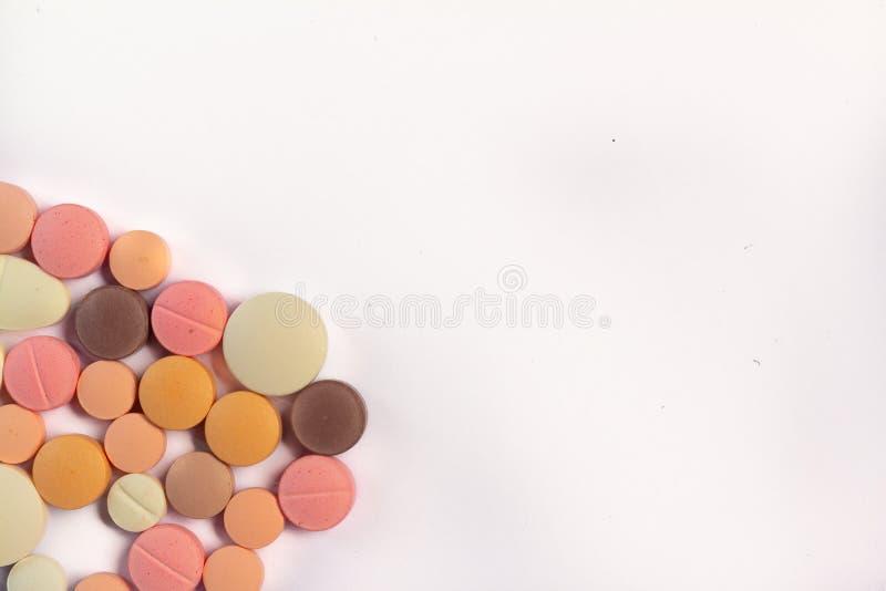 Drogas coloreadas para el uso oral fotografía de archivo