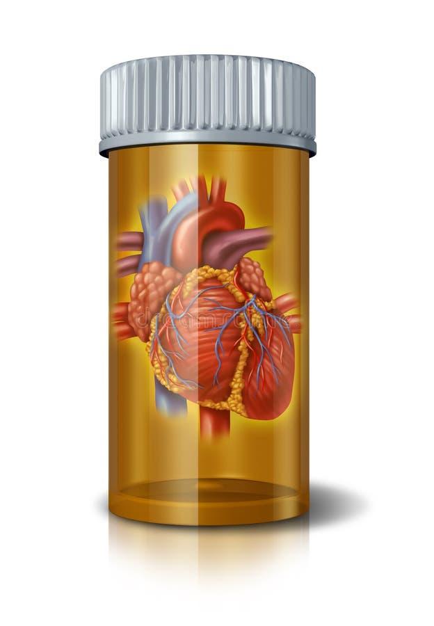 Drogas de coração ilustração royalty free
