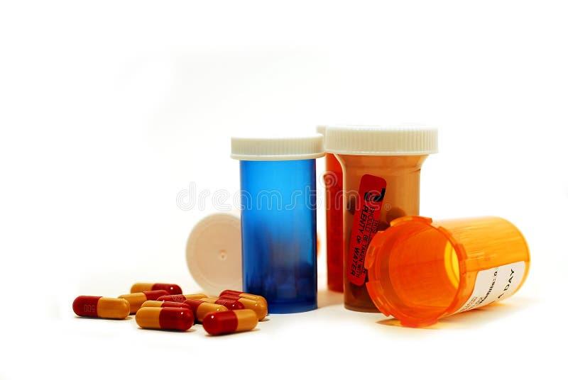 Drogas de las píldoras blancas imagen de archivo libre de regalías