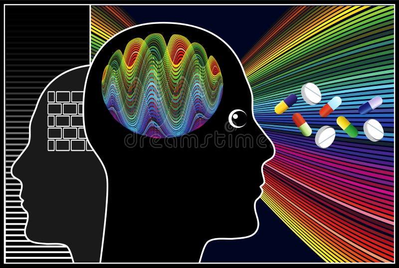 Drogas de Nootropic ilustración del vector
