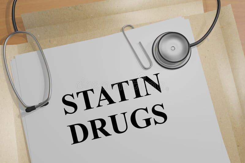 Drogas do Statin - conceito médico ilustração stock