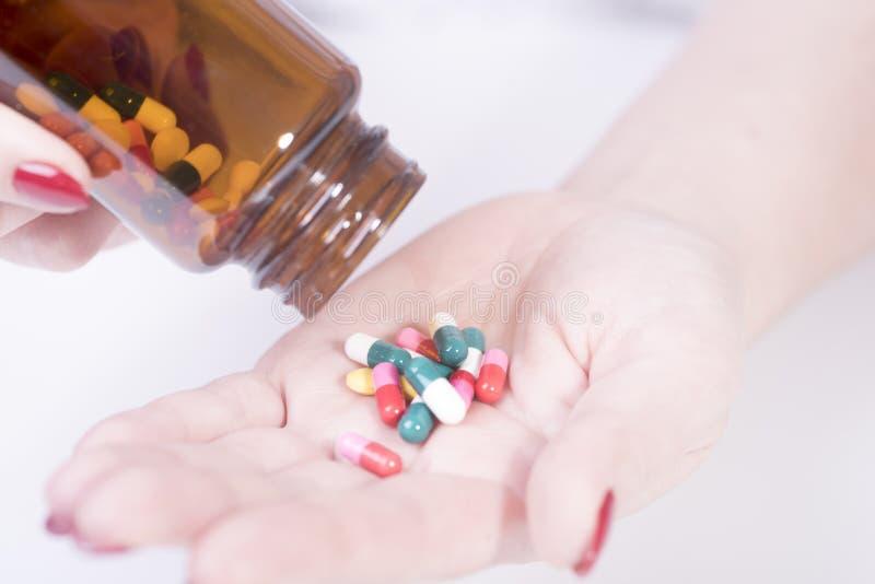Drogas para a prevenção das doenças imagens de stock