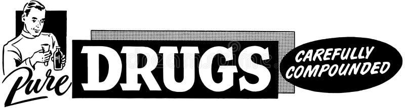 Drogas puras stock de ilustración