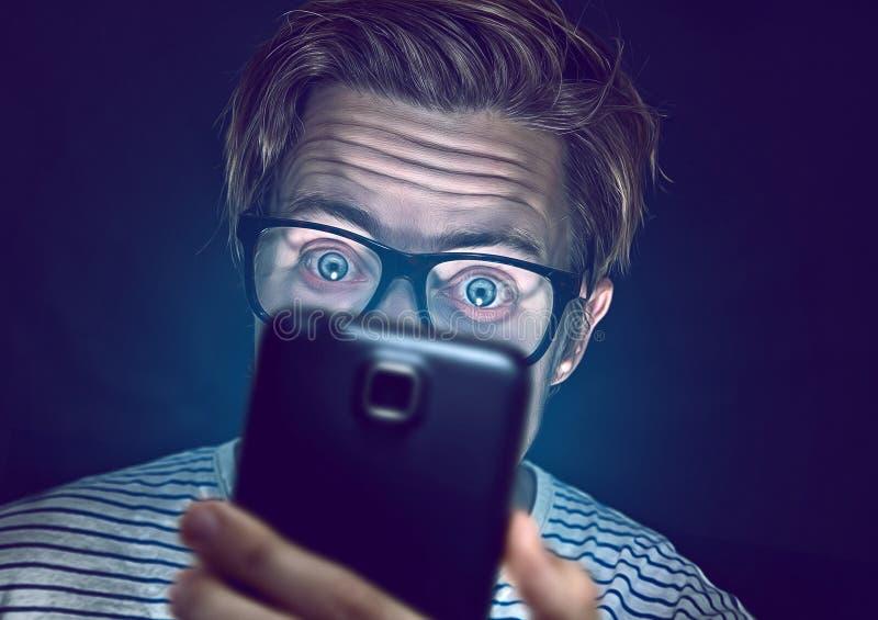Drogato di Smartphone fotografia stock libera da diritti