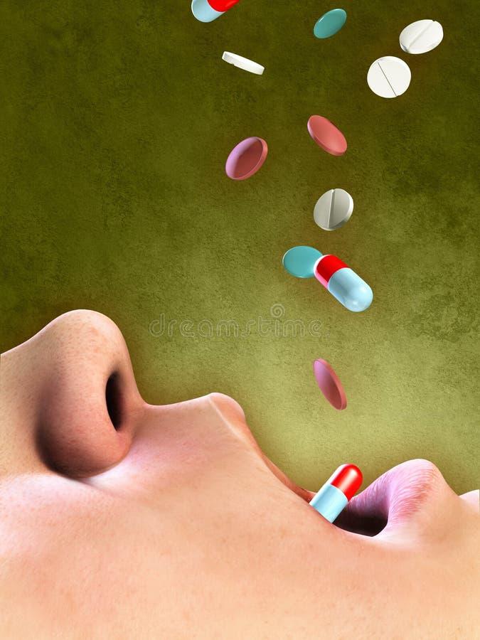 Drogeüberbeanspruchung lizenzfreie abbildung