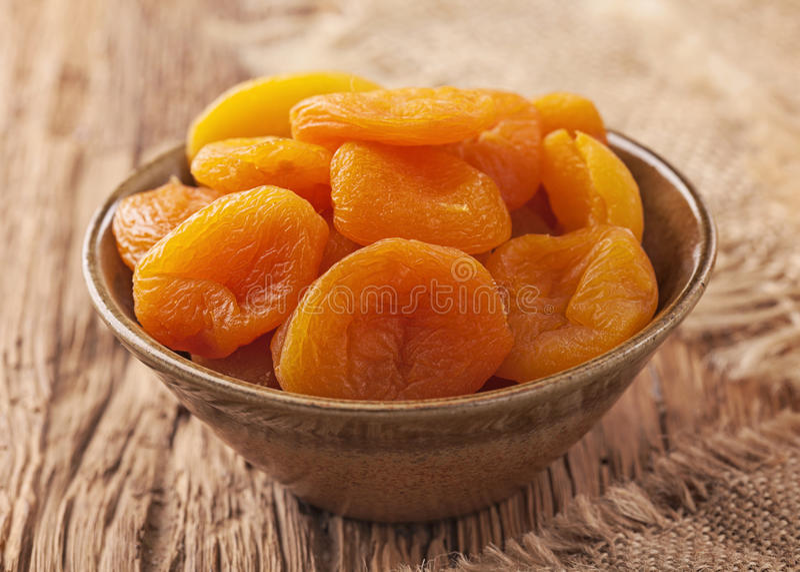 Droge abrikozen stock afbeeldingen