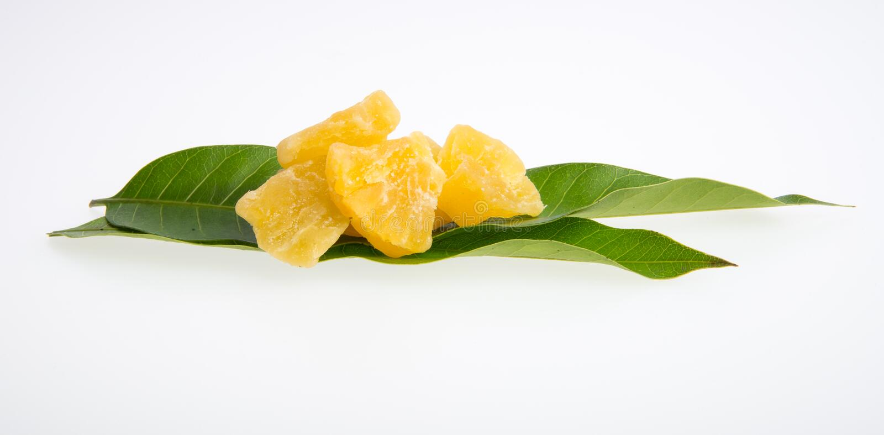 droge ananas of droge vruchten op een achtergrond royalty-vrije stock foto