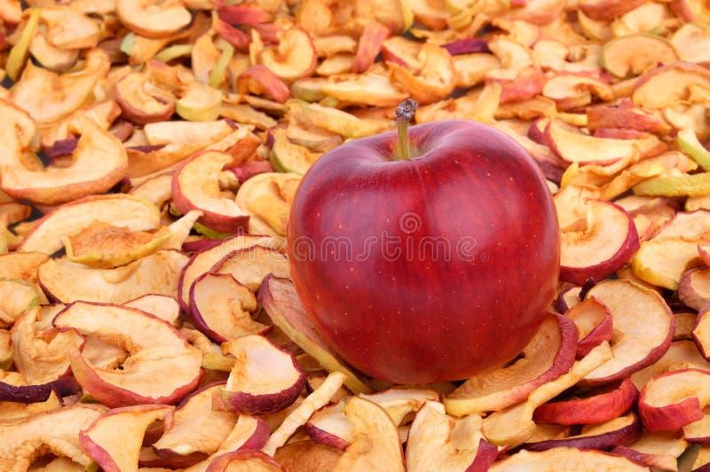 Droge appelen royalty-vrije stock fotografie